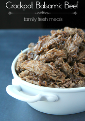 Easy Crockpot Balsamic Beef