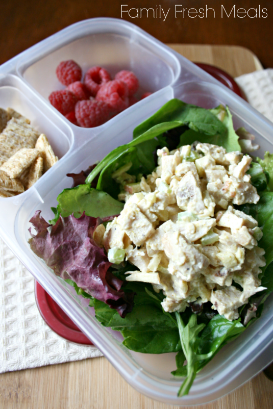 50 healthy work lunch ideas - FamilyFreshMeals.com - Greek Yogurt Chicken Salad