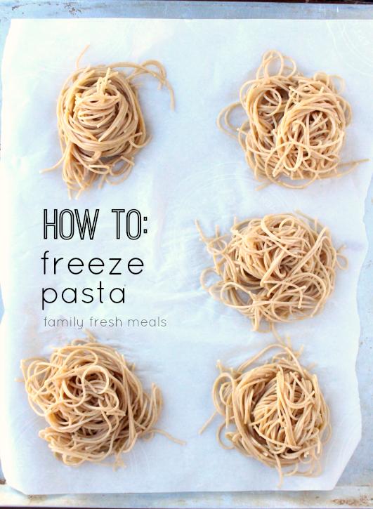 How To Freeze Pasta Portions - FamilyFreshMeals.com -