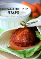 Easy Buffalo Chicken Wraps