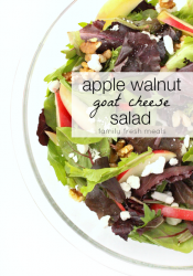 Apple Walnut Goat Cheese Salad