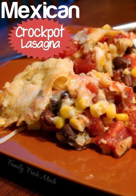Crockpot Mexican Lasagna - FamilyFreshMeals.com -