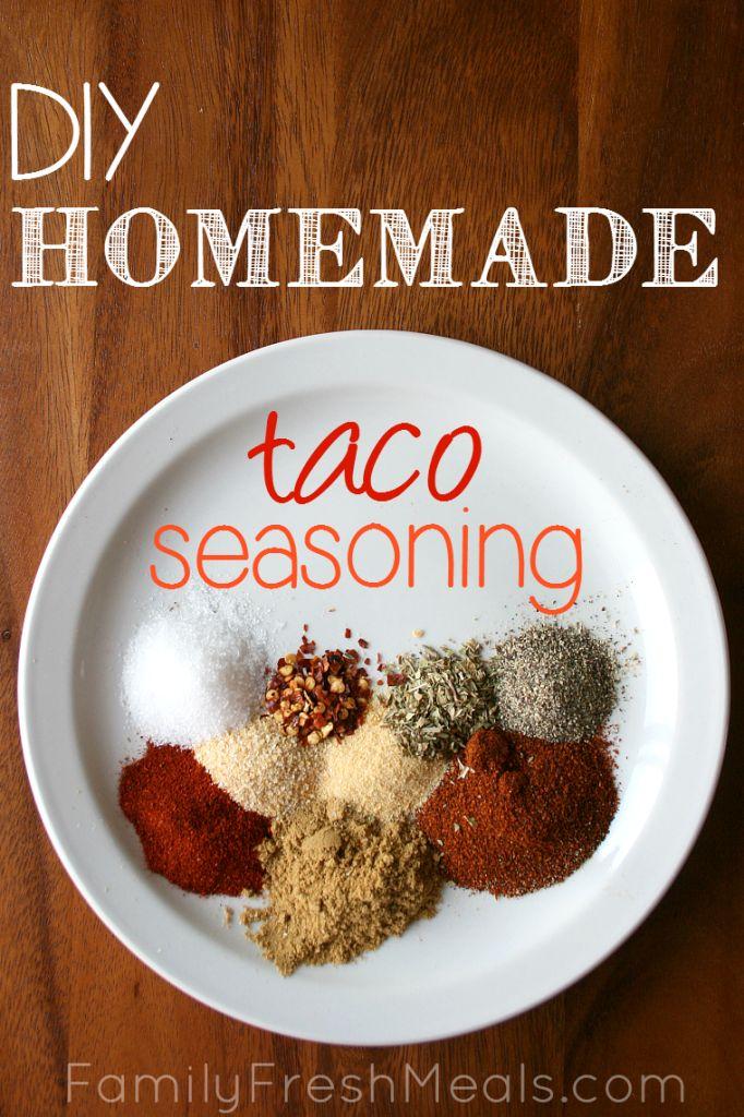 Homemade Taco Seasoning - FamilyFreshMeals.com  - 30 Easy Mexican Recipes for Cinco De Mayo