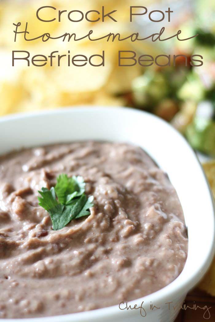 Homemade Crockpot Refried Beans