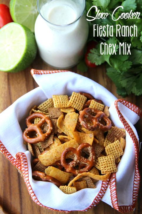 Crockpot Fiesta Ranch Chex Mix-FamilyFreshMeals.com_