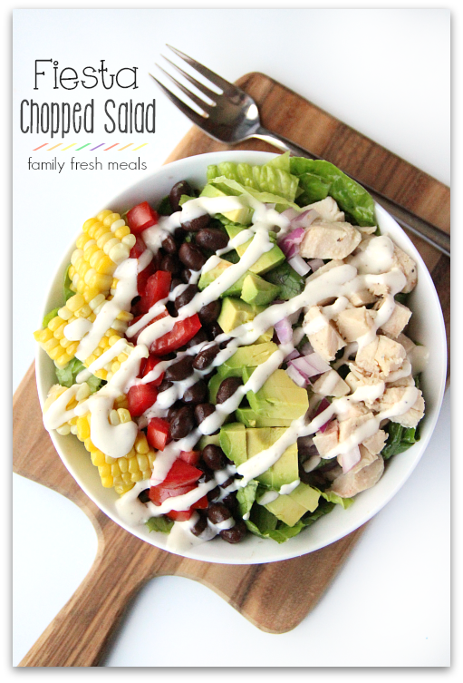 Fiesta Chopped Salad FamilyFreshMeals.com