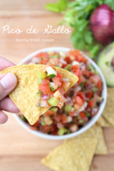 Pico de Gallo Fresh Salsa Recipe - Family Fresh Meals