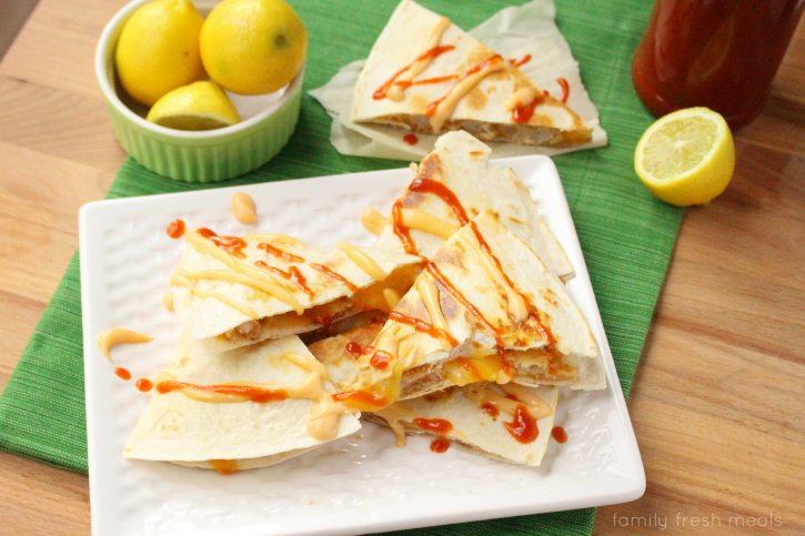 Firecracker Shrimp Quesadilla - Enjoy!