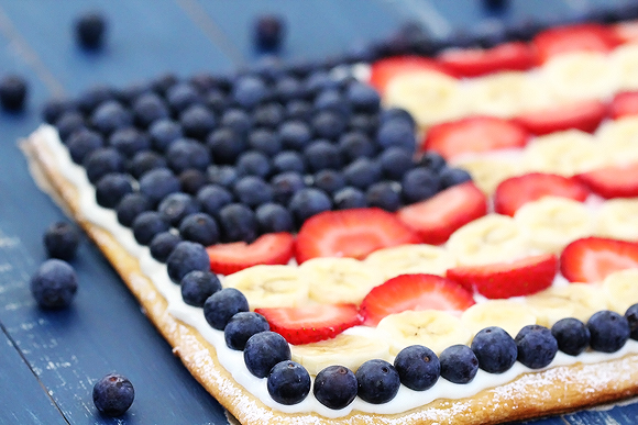 Fruit Flag Pizza