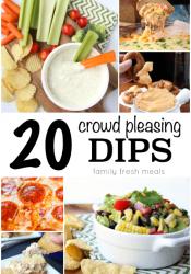 20 Crowd Pleasing Dip Recipes