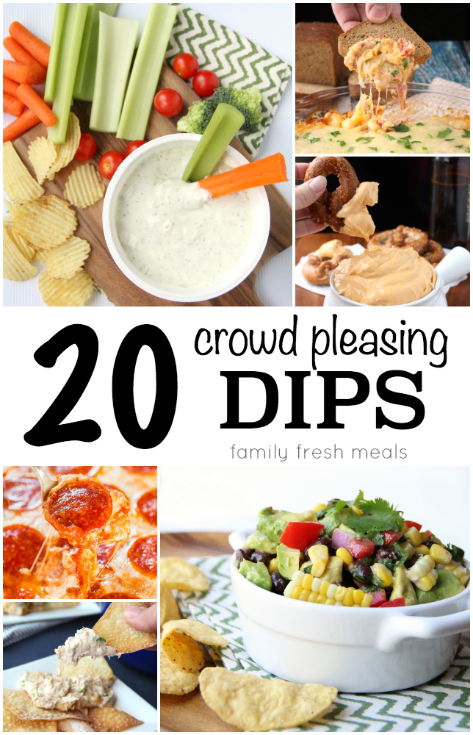 20 Crowd Pleasing Dip Recipes --- Family Fresh Meals -