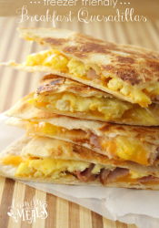 Freezer Breakfast Quesadillas 4 Ways