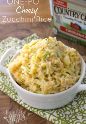 One Pot Cheesy Zucchini Rice