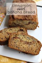 Cinnamon Swirl Banana Bread - FamilyFreshMeals.com