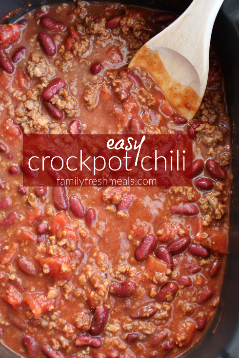 Here is what I used to make this Easy Crockpot Chili.