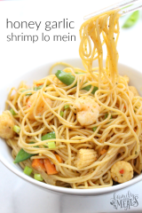 Honey Garlic Shrimp Lo Mein