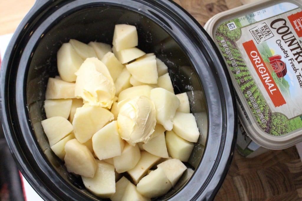 Creamy Ranch Crockpot Potatoes - Step 1a