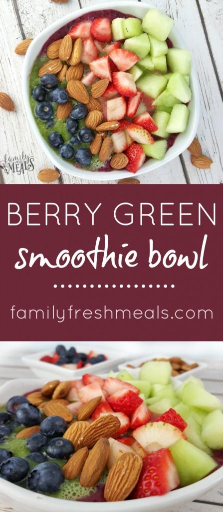 Berry Green Smoothie Bowl - FamilyFreshMeals.com -