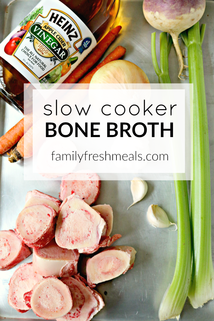 Slow Cooker Bone Broth -- FamilyFreshMeals.com