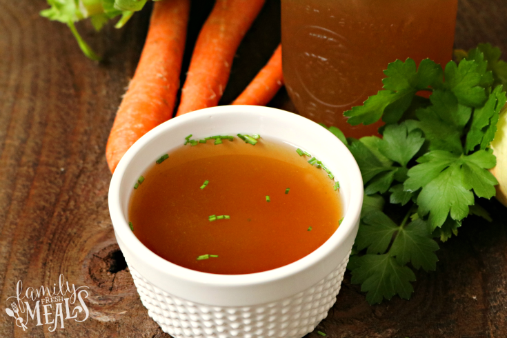 Slow Cooker Bone Broth - So easy to make in the crockpot! - FamilyFreshMeals.com - FB