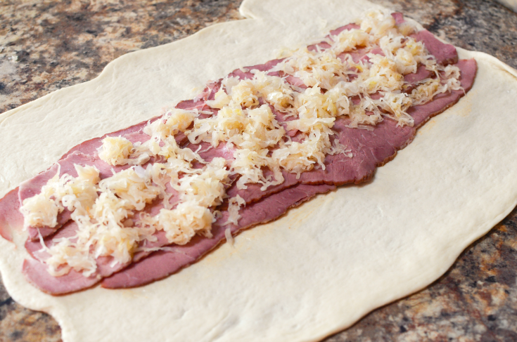 Corned Beef Sauerkraut Rueben Braid - Step 3