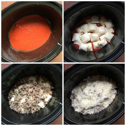 Easy Crockpot Lasagna Ravioli
