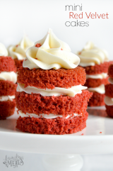 Easy Mini Red Velvet Cakes