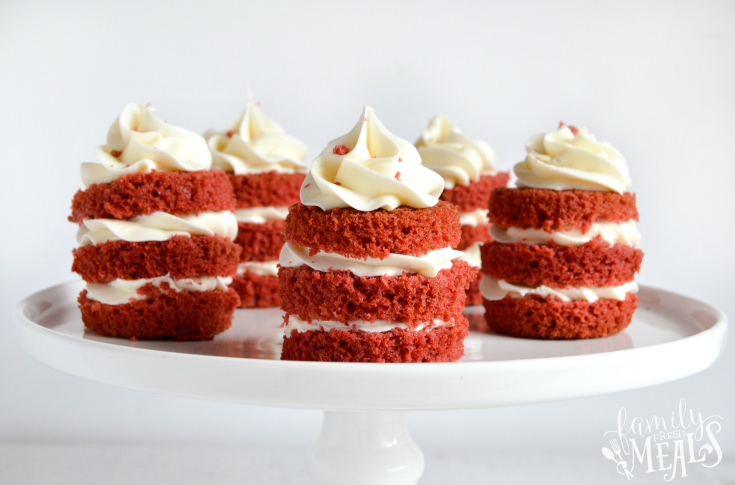 Easy Mini Red Velvet Cakes - Step 5