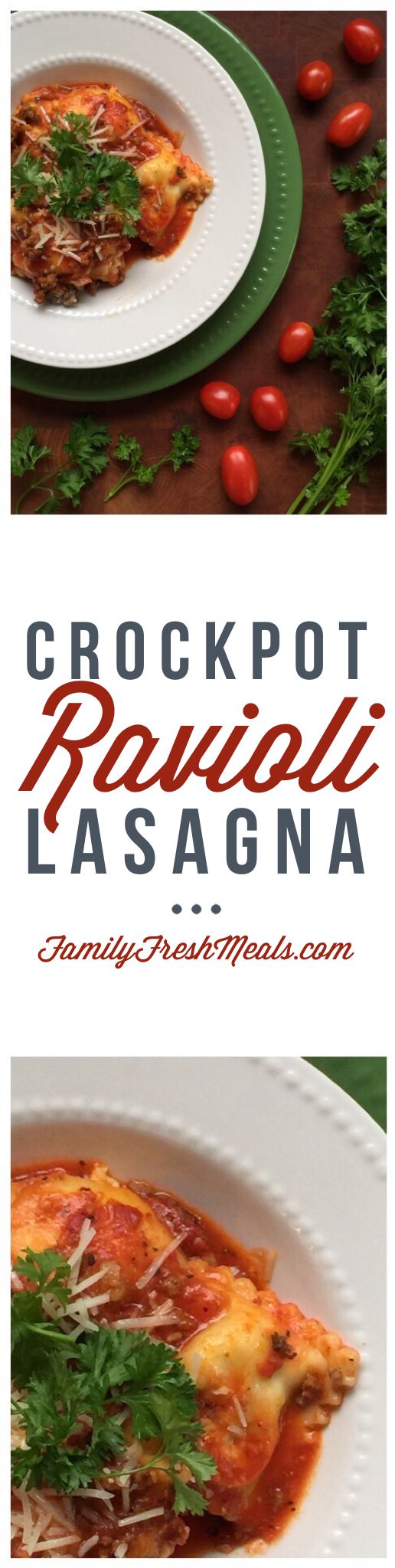 Easy Crockpot Lasagna Ravioli - Enjoy!