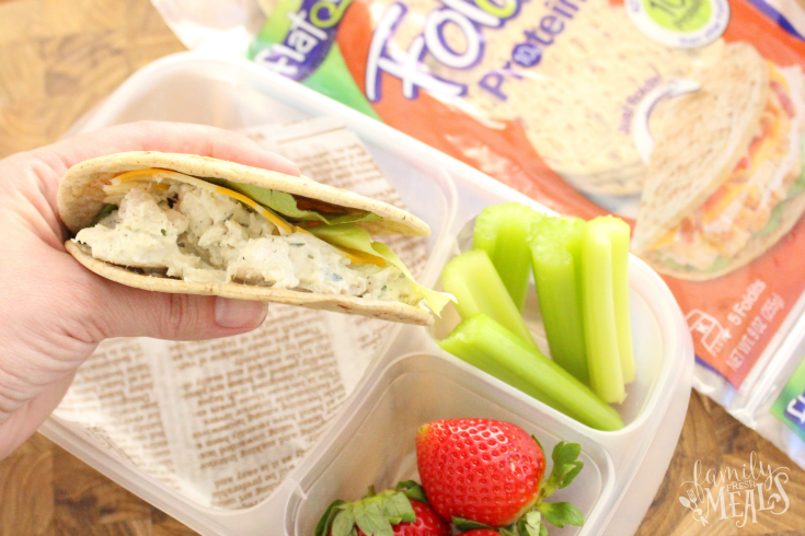 Tarragon Chicken Salad with Flatout - FamilyFreshMeals.com -- Enjoy!