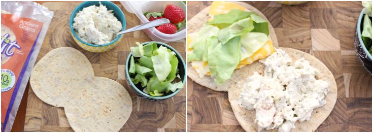 Tarragon Chicken Salad with Flatout --- FamilyFreshMeals.com - Recipe