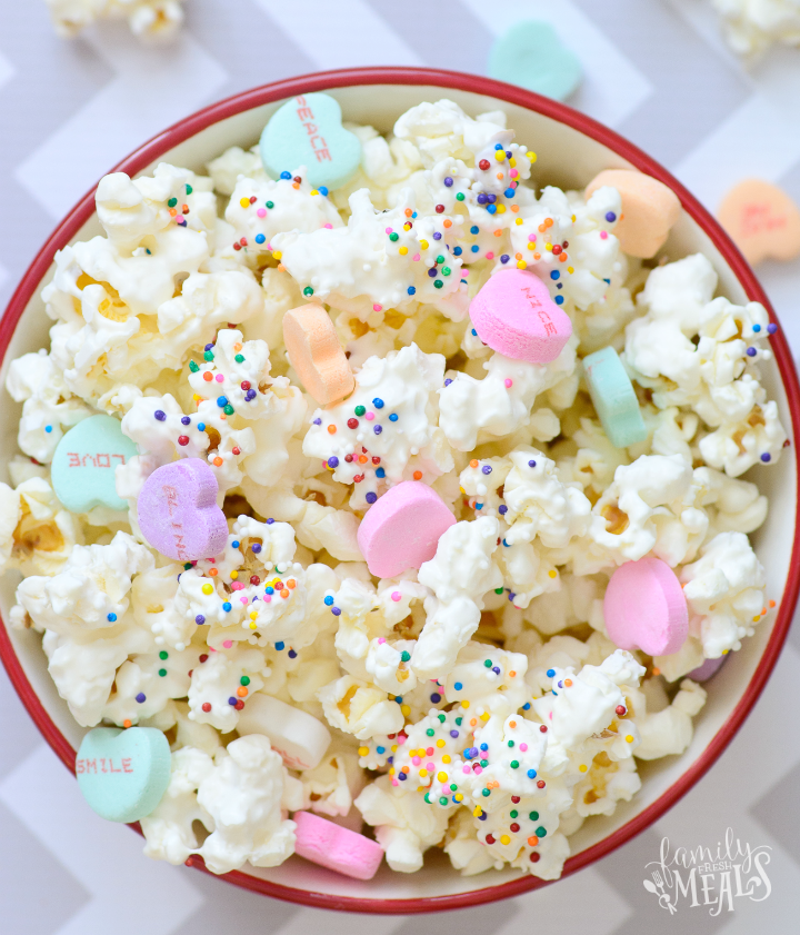Valentine's Day Popcorn Treat - FamilyFreshMeals.com --fb