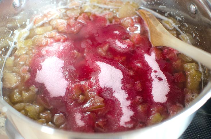 Easy Strawberry Rhubarb Jam - step 3 - FamilyFreshMeals.com -