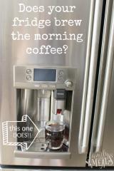 GE Café refrigerator with a Keurig Brewing System