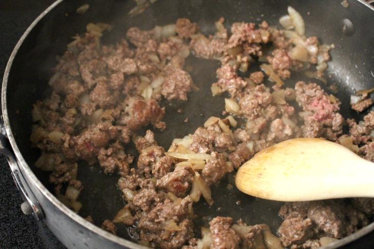 One Pot Unstuffed Cabbage Rolls - Step 1 - FamilyFreshMeals.com