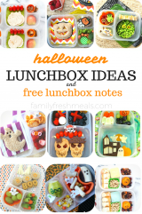 Halloween Lunchbox Ideas and Free Lunchbox Notes