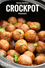 Honey Buffalo Crockpot Meatballs