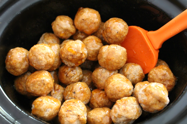 Honey Buffalo Crockpot Meatballs - Step 2