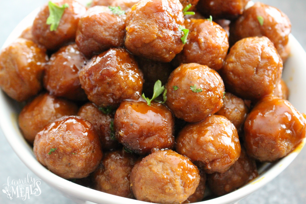 These honey buffalo crockpot meatballs are made in the slow cooker my