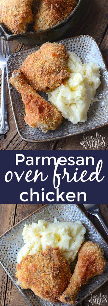 Parmesan Oven Fried Chicken - FamilyFreshMeals.com -