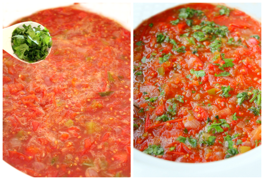 crockpot canning salsa step-2 familyfreshmeals.com