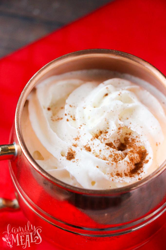 Crockpot Eggnog Latte - familyfreshmeals.com