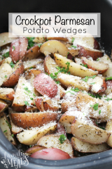 Crockpot Parmesan Potato Wedges