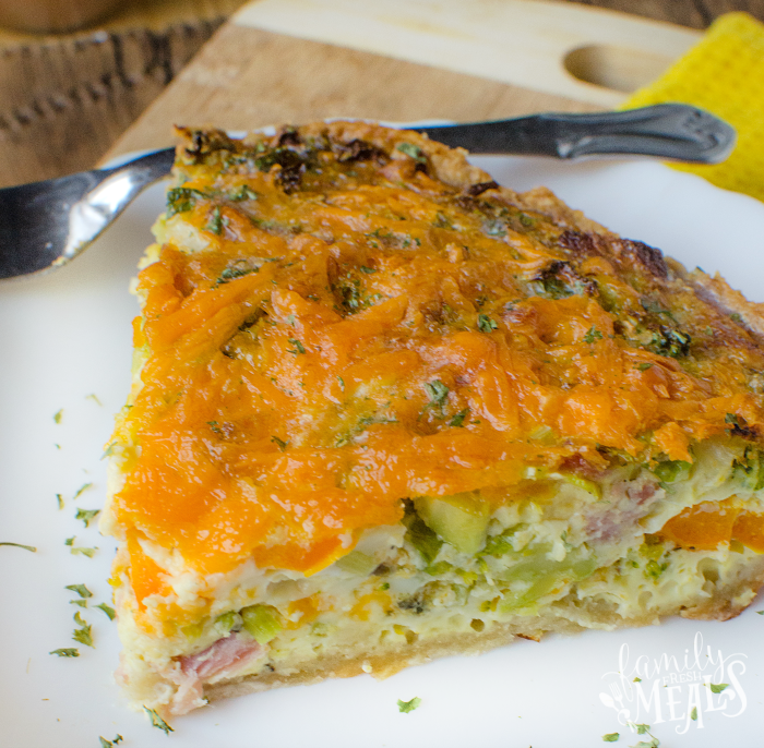 Ham Cheese And Broccoli Quiche - familyfreshmeals.com