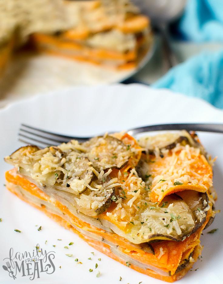 Two Potato Parmesan Bake - FamilyFreshMeals.com
