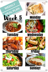 Easy Weekly Meal Plan Week 5
