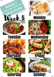 Easy Weekly Meal Plan Week 5