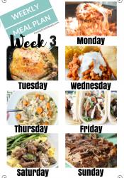Easy Weekly Meal Plan Week 3