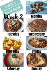 Easy Weekly Meal Plan Week 2