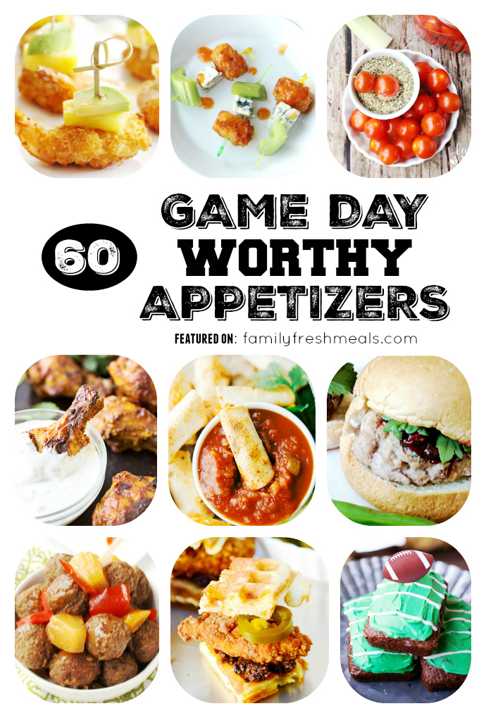 60 Game Day Super Bowl Appetizers